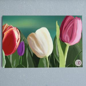 quadro tulipano a