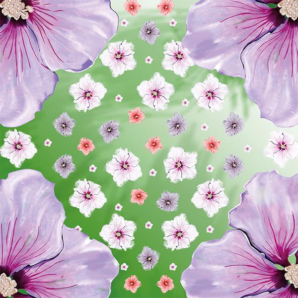foulard hibiscus